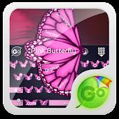 Pink Butterfly GO Keyboard