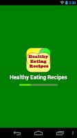 Screenshot of healthy eating recipes