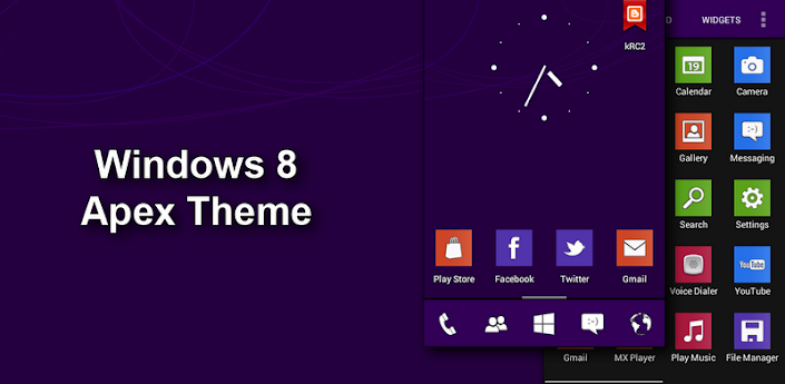Windows 8 Apex Theme v1.2 Apk
