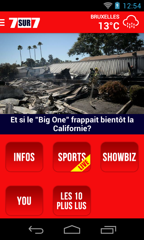 7sur7.be Mobile- screenshot