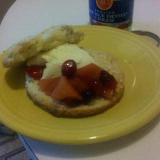 Winter Cranberry Quince Shortcake.
