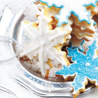 Sparkly Snowflake Cookies.
