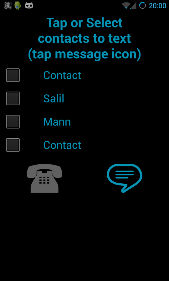 Shake to Call/Message FREE- screenshot