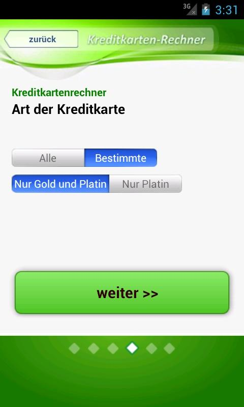 Kreditkarte - screenshot