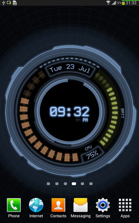 AHL Sci-Fi System Clock (Pro)- screenshot