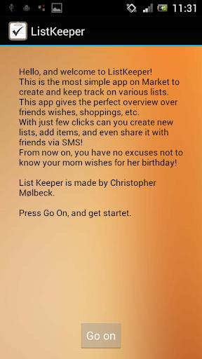 List Keeper