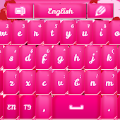 GO Keyboard Pink Flower