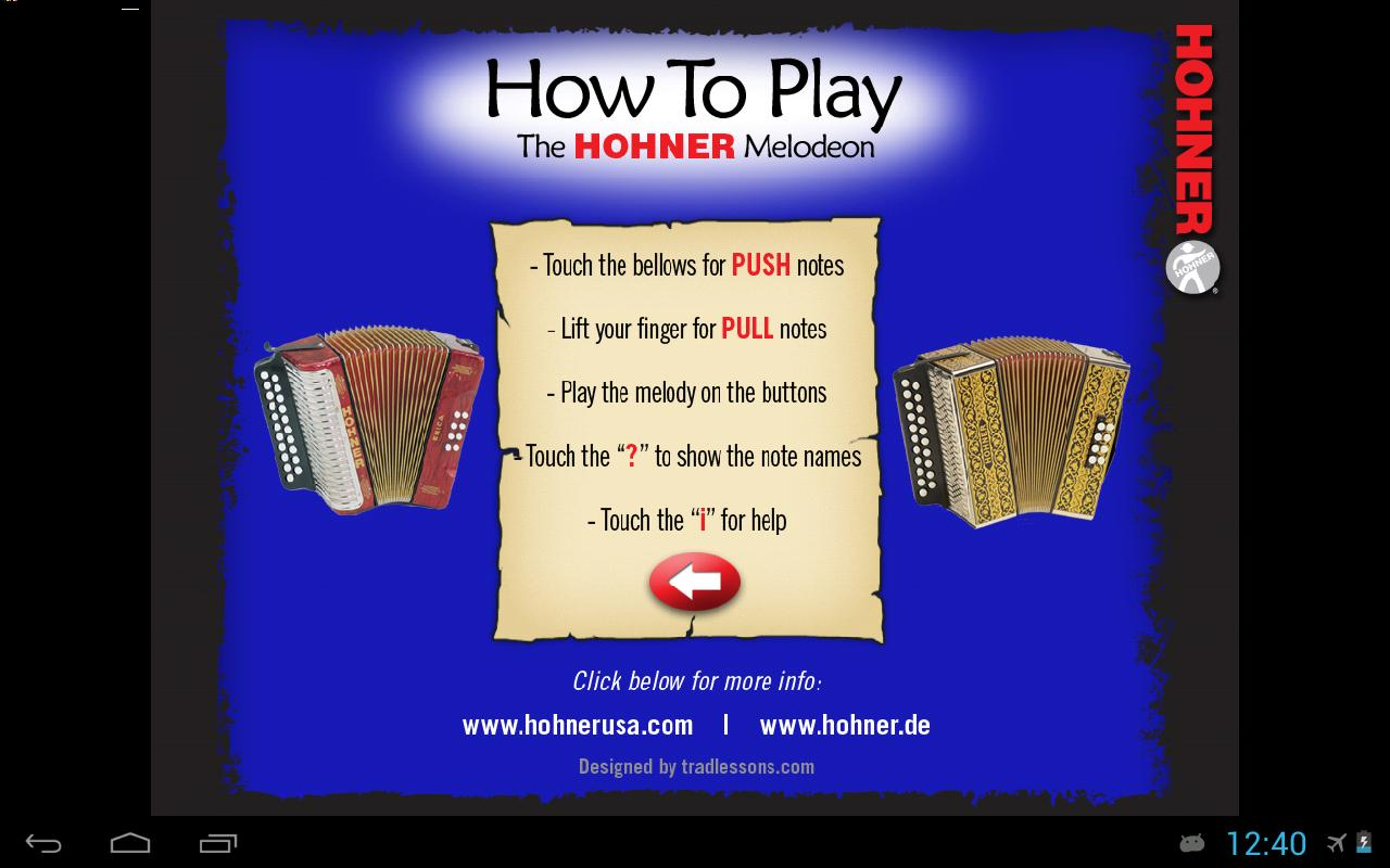 Hohner C/F Button Accordion- screenshot