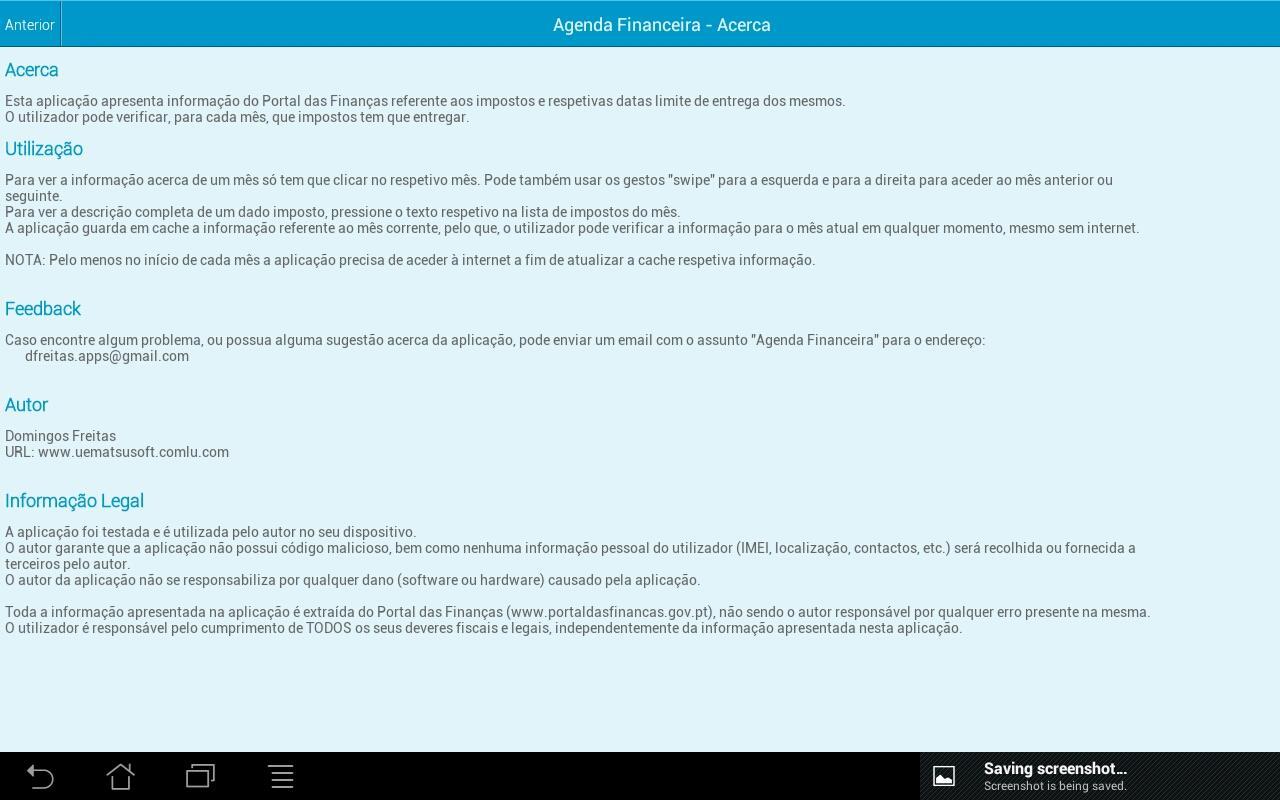 Agenda Financeira - screenshot