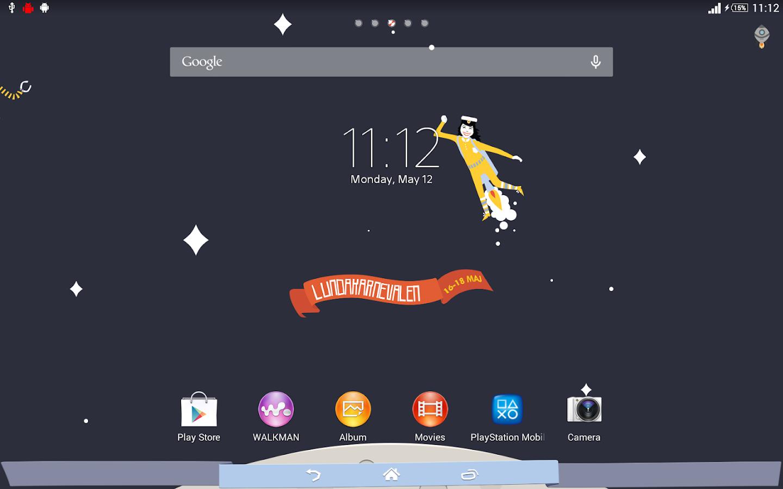 Google themes store - Xperia Lundakarneval Theme Screenshot