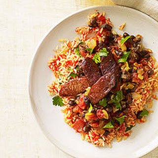 Smoky Red Rice and Chorizo with Black Beans Recipe
