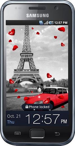 Red Car Paris Best HD LWP