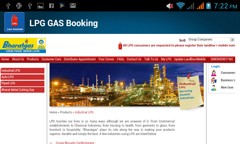 LPG GAS BOOKING ONLINE INDIA - Android Apps on Google Play