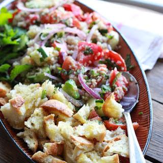 Quinoa and Heirloom Tomato Panzanella Salad