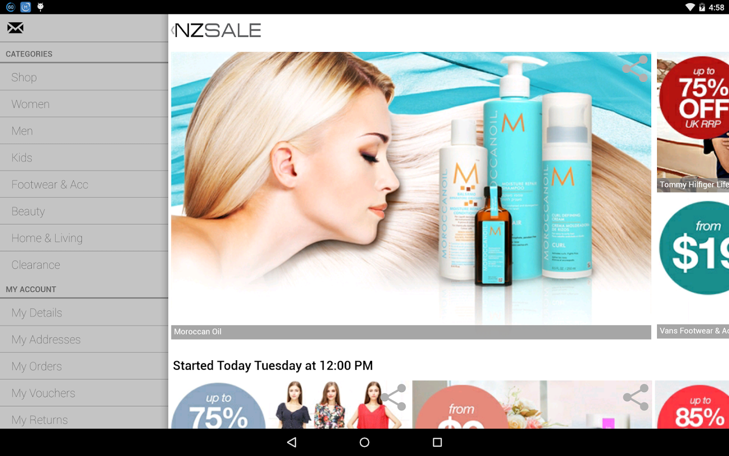 Nzsale- screenshot