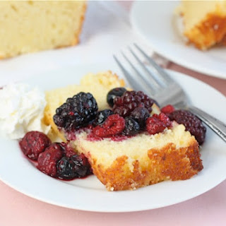 Lemon Ricotta Pound Cake with Berries