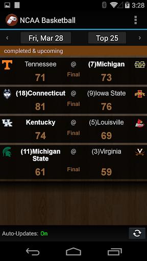 NCAA Basketball Scores Alerts
