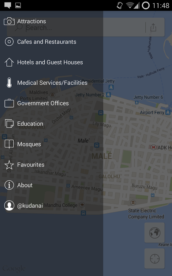 Male' Map- screenshot