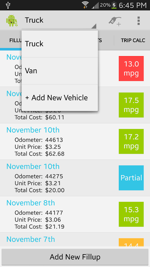 EasyMPG Free - screenshot
