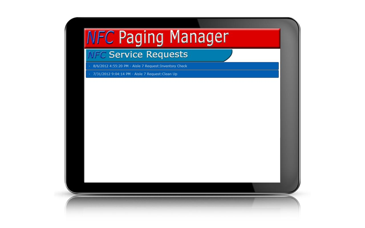 NFC Tablet Manager Paging - screenshot