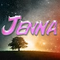 Jenna pink sticker logo