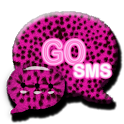 GO SMS PRO Pink Cheetah theme icon