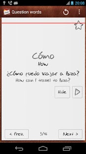 Learn Spanish with Flashcards - screenshot thumbnail