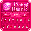 GO Keyboard Pink Hearts Theme 1.0.4 icon