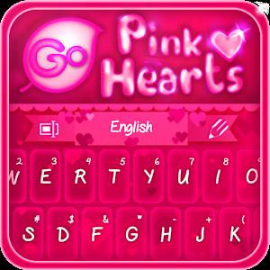 GO Keyboard Pink Hearts Theme 個人化 App LOGO-APP試玩