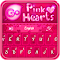GO Keyboard Pink Hearts Theme 1.0.4 Apk