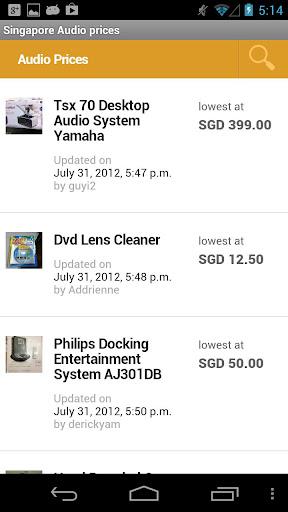 Singapore Audio prices