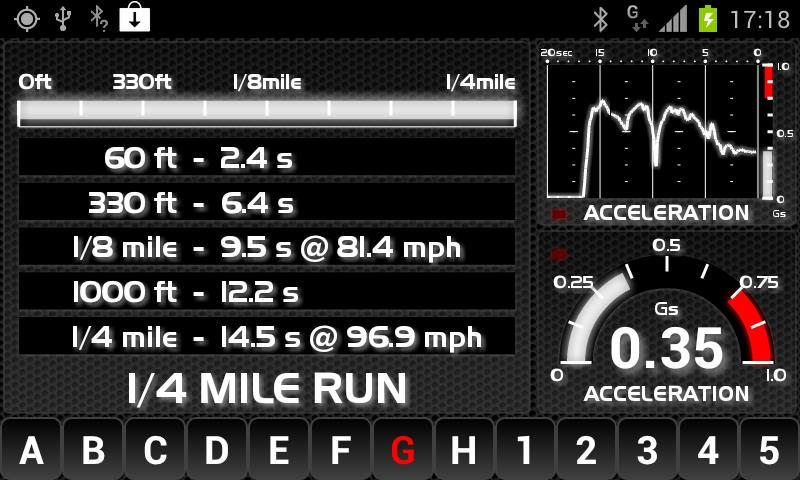 aCarputer GPS OBD2 - screenshot