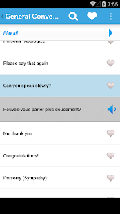 Learn French Phrasebook - screenshot thumbnail