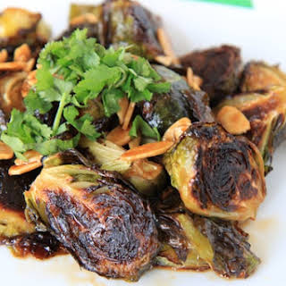 Sriracha & Honey Roasted Brussels Sprouts.