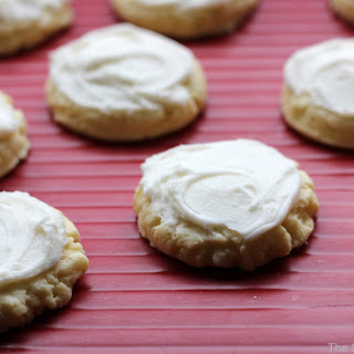 Frosted Shortbread Cookies.