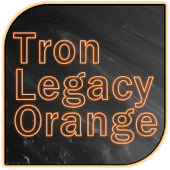 Tron Legacy Orange Go Theme