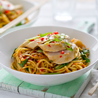 Healthy Living Balsamic Chicken Noodle Stir Fry.