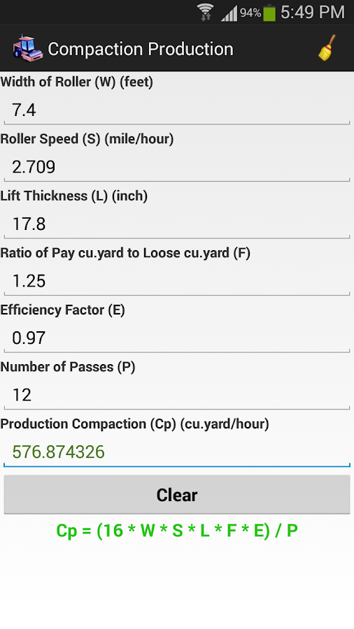Soil and earthwork calculator android apps on google play for Soil removal calculator