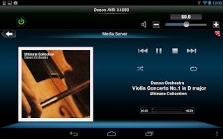 Screenshot of Denon Remote App
