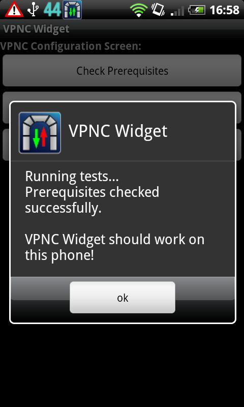 VPNC Widget- screenshot