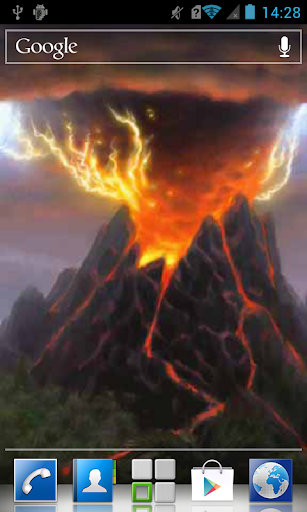 Incandescent volcano Live WP