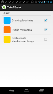TakeABreak: Find Toilets/Taps- screenshot thumbnail