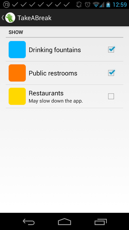 TakeABreak: Find Toilets/Taps - screenshot