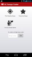 Screenshot of OC Transpo Tracker