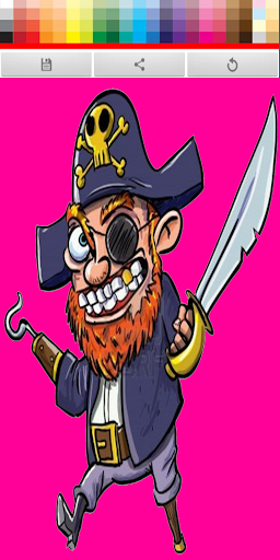 Pirate Coloring Paint