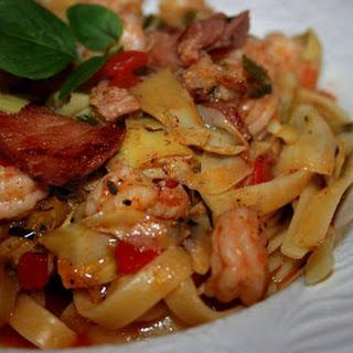 Shrimp and Fettuccine.