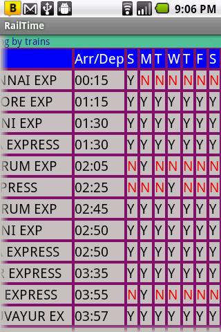 IndianRailway Offline TimeTabl- screenshot