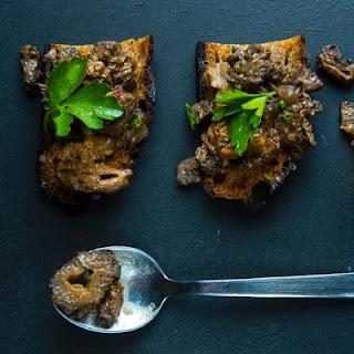 Morel Mushroom Toasts with Parsley Salad