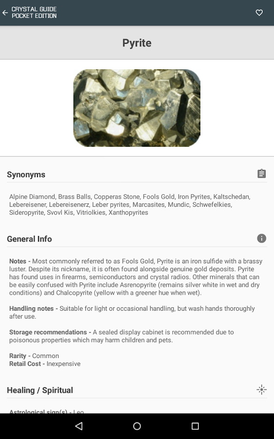 Crystal Guide Pocket Edition- screenshot