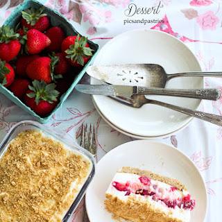 Strawberry Graham Cracker Dessert.